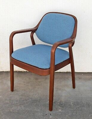 Mid Century Modern Bentwood Chair by Don Petit for Knoll Wool