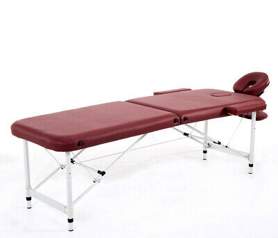 "84""L Wine Fold Portable Massage Table Facial SPA Beauty Bed Tattoo"