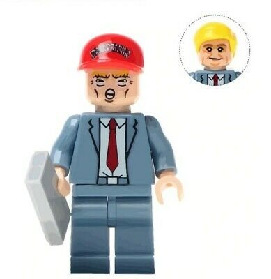 DONALD TRUMP MINIFIGURE MAKE AMERICA GREAT AGAIN custom lego building block MAGA