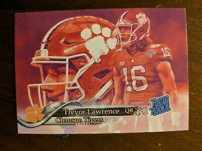 TREVOR LAWRENCE - CLEMSON TIGERS - Rated Rookie Custom ACEO 2019 Single Novelty