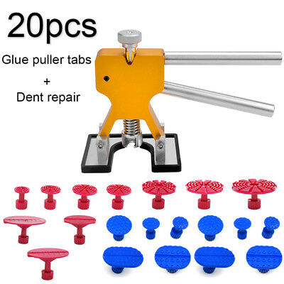 Auto Car Body Dent Ding Remover Repair Tools Puller Hail Damage + 20 Tabs Kit&l