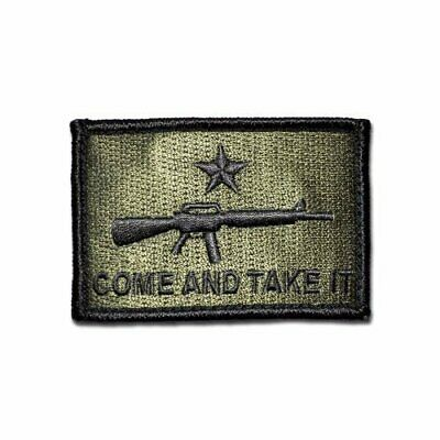 Tactical Combat Military Morale Patch Badge EMB Hook and Loop - Come and Take It
