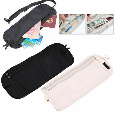Travel Waist Pouch Passport Bag Money Belt Ticket Card Wallet Fanny Pack Secure