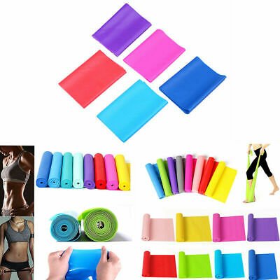 1.5m Elastic Yoga Stretch Resistance Exercise Fitness Band Strap Workout Belt AU