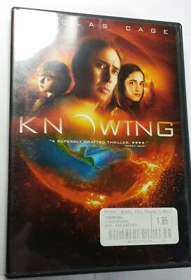 Knowing (DVD, 2009) previously viewed used Nicolas Cage