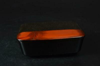 T9722: Japanese Wooden Lacquer ware CONTAINER Accessories Case Box Tea Ceremony