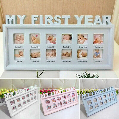 12 Months Picture Newborn Baby My First Year PVC Moments Photo Frame Girls Boys