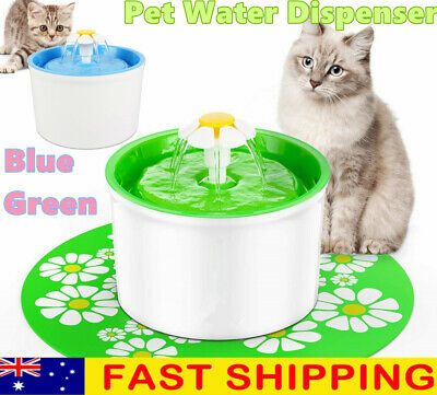 1.6L Automatic Electric Pet Water Fountain Drinker Cat/Dog Drinking Dispenser AU
