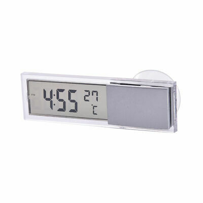 2 in 1 Auto Car Digital LCD Electronic Clock Thermometer Fashion Multi Universal