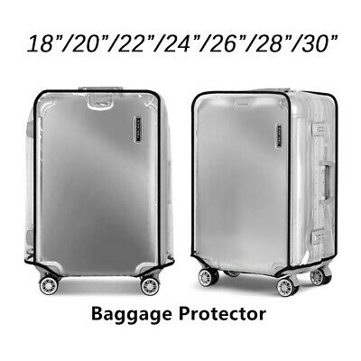 Transparent Suitcase Cover Travel PVC Luggage Protector 20''22''24''26''28Bag~