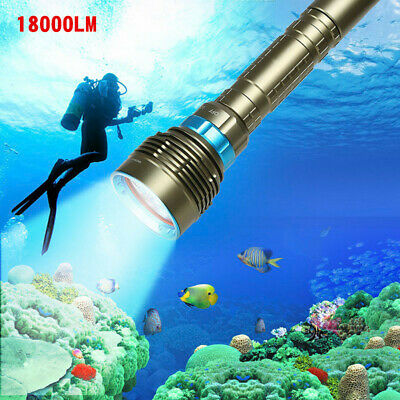 90000LM 7xXML-T6 LED Diving Flashlight Lamp Underwater 200M Torch Waterproof