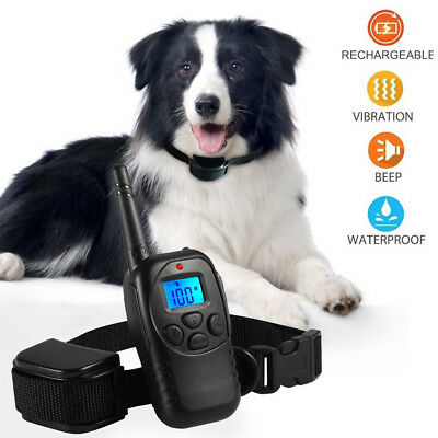 AntiBark Collar Train LCD Electric Dog Training Shock Collar Remote Control