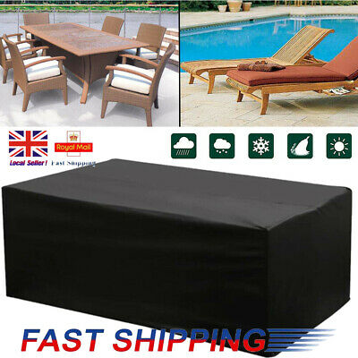 Large Heavy Duty Waterproof Rattan Cube Cover Outdoor Garden Furniture 3 Size UK