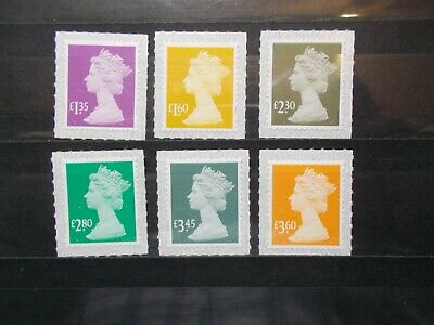 GB 2019 Security Machins Set~(6)~M19L~S/A~Unmounted Mint~UK