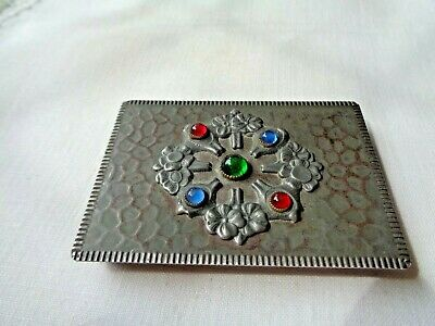 Victorian Old Antique Arts And Crafts Calling Card Case
