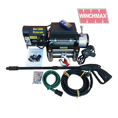 RECOVERY WINCH WITH PRESSURE WASHER 12V 12000 lb