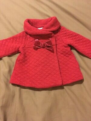 Baby Girls Gorgeous Long Sleeve Red Jacket Size 3-6 Months EUC