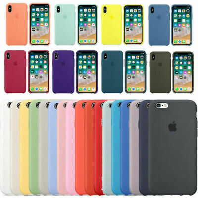 Genuine Original Hard Silicone Case Cover For iPhone X XR XS Max 6 6S 7 8 Plus