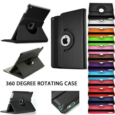 """iPad Case 360 Rotating Stand Flip Cover Fit For iPad 234 Mini Air 2017 9.7"""" 10.5"""