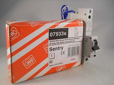 MK RCBO 10 Amp 30mA Type B 10A Sentry B10 07933S 7933S NEW