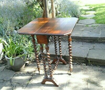 Antique Gate Leg Table with Bobbin turned Legs
