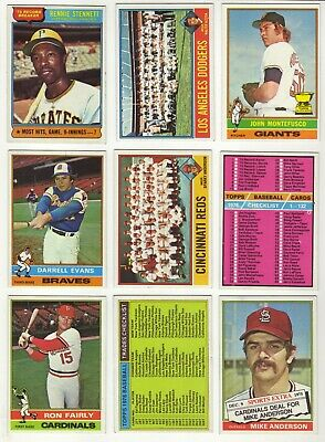 1976 Topps Baseball Starter Set 206/660 - 4/44 Traded EX-MT to NM