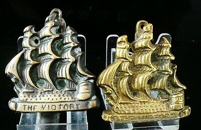 2 Vintage/Antique Brass Door Knockers, The Victory Ship Galleon
