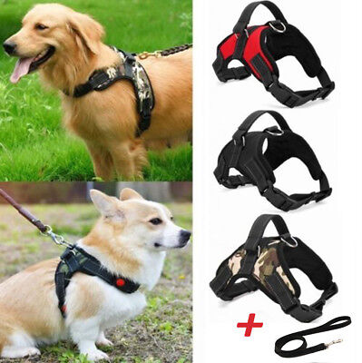 UK No Non Pull Dog Harness Leash strap Soft Padded Vest Small Medium Large Extra