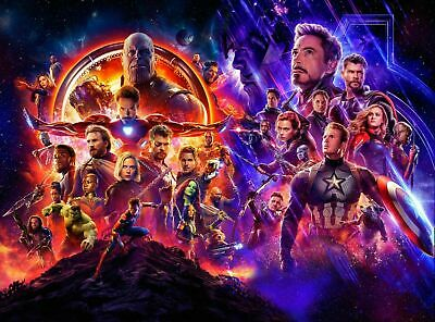 Marvel Avengers Endgame Canvas Wall Art Picture Print Framed 20x30 INCHES