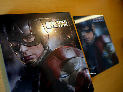 Marvel CAPTAIN AMERICA: Civil War Lenticular Magnet Steelbook [3D + 2D Blu-ray]