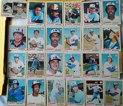 Topps 1978 Montreal Expos 27 card near team set - Dawson/Carter/signed Dave Cash