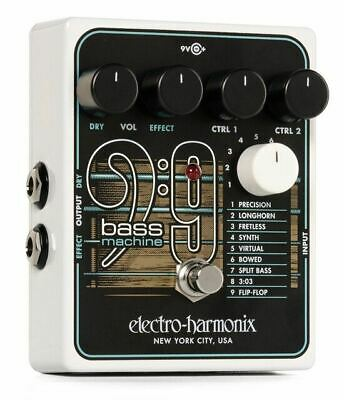 Electro-Harmonix polyphonic BASS9 Bass Machine effects pedal