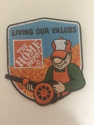 Home Depot Apron Badge: Seasonal Homer Award Blower Fall (patch, pin, swag)