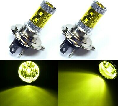 LED 50W 9003 HB2 H4 Yellow 3000K Two Bulbs Fog Light Replacement Plug Play Lamp