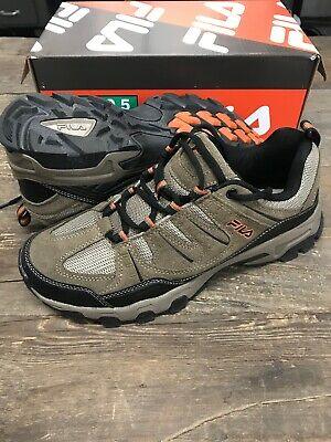 NEW FILA Men's Headway 6 Hiking Trail Shoes Gray Black Red