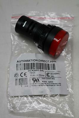 Automation Direct Ecx2051-24L Ip65 Indicator Light Red Led Illuminated 24Vac/Dc