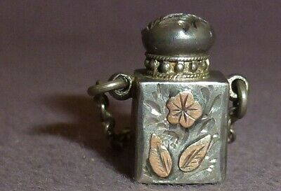 Solid Silver Vinaigrette Pendant Scent Bottle design Tongue & Walker 1901