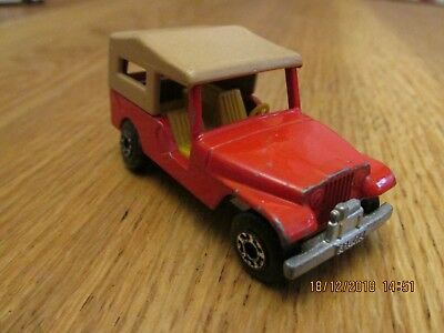 1977 Matchbox Superfast Red No.53 Cj6 Jeep Diecast Metal Model Made In England