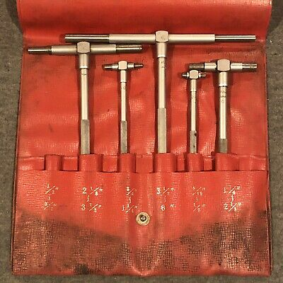 MITUTOYO 155-904 Telescoping Gage Set,5 Pc,0.500 to 6In