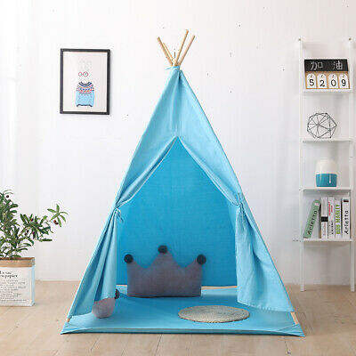Cotton Canvas Kids Teepee Tent Childrens Wigwam Indoor Outdoor Play House NEW
