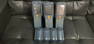 Lot of 3 Kyman DataLogic DL-Kyman-G 700-602 Data Collection Terminal W/ Charger
