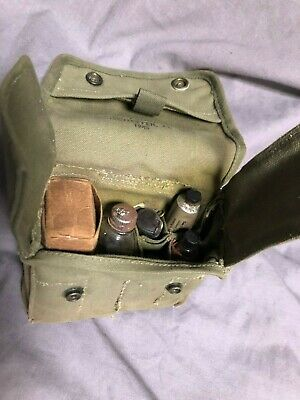 WWII U.S. Army Medic pouch, Sanicot Products Co., w/accy's , used