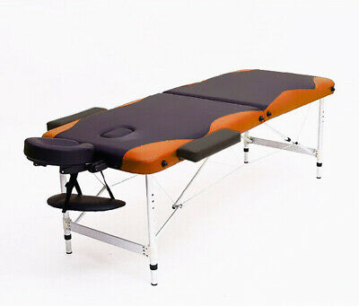 "84""L Massage Table 3 Fold Portable Facial SPA Bed Tattoo Free Carry Case"