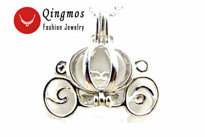 Christmas Wish Pearl Carriage Pendant Necklace for Women Oyster Love Pearl Box