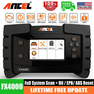 Bluetooth WiFi OBD2 Scanner All System ABS SRS Injector ESP AT w/ Android Tablet