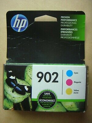FREE SHIPPING! NEW Genuine HP 902 CYAN * MAGENTA * YELLOW Ink Lot ~ Exp Apr 2020