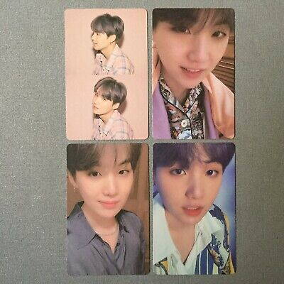 BTS - SUGA - Photocard full set of 4 - Map of the Soul: Persona - Official