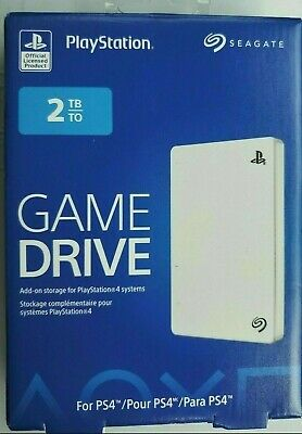 Seagate 2TB White External Hard Drive USB3 for PS4 Playstation STGD200102 - NEW!