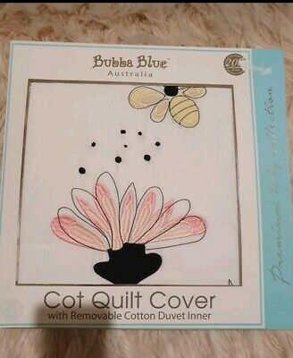 Brand new bubba blue Cot Quilt Cover with removable cotton duvet inner RRP 79.95