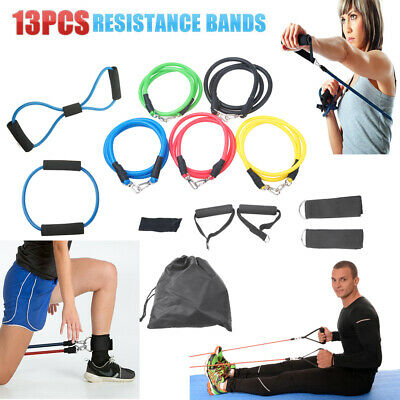 Strength Band Power Resistance Rubber Band Yoga Pull Up Training Exercise 13 PCS